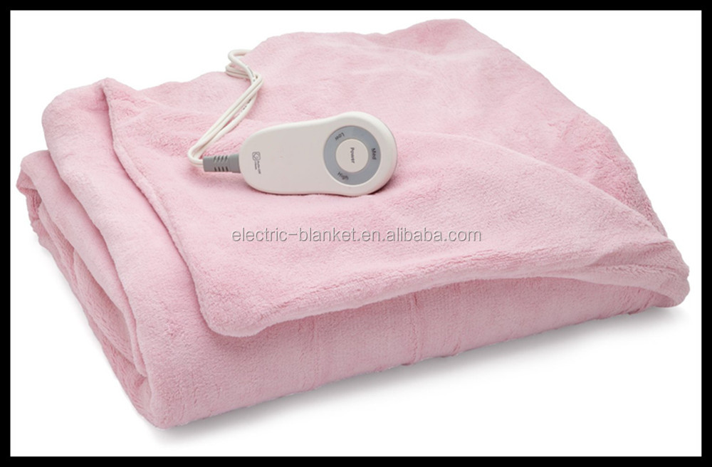 Luxury Fleece Super Soft Warm Lightweight Heated Bed Blankets Twin/Queen/King