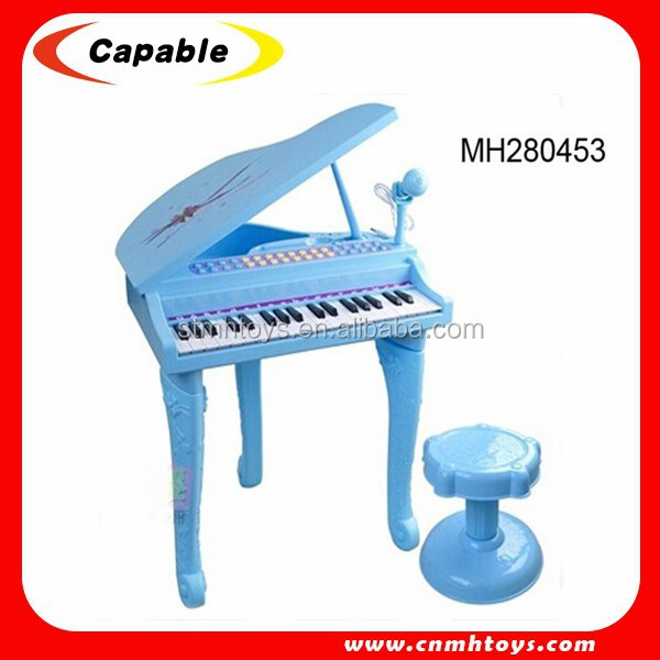 2017 hot new products kids musical toy piano with microphone for selling