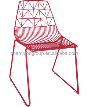 Charming Colorful Outdoor Metal Wire Chair