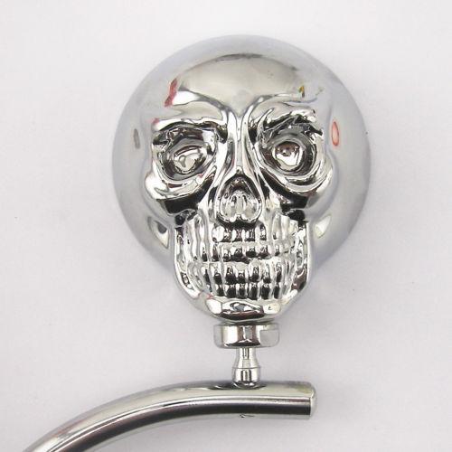Универсальный мотоцикл скелет череп хромированная заднего боковые зеркала 8 мм 10 мм