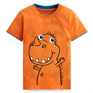 Wholesale OEM service summer European style breathable V neck blank children tshirt