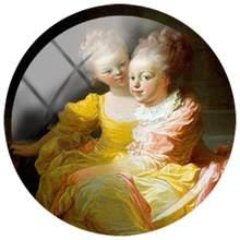 Стеклянные кабошоны JWEIJIAO, 5 шт., классические куполообразные бусины для живописи двух сестер, серьги «сделай сам», брелок, аксессуары для оже...(Китай)