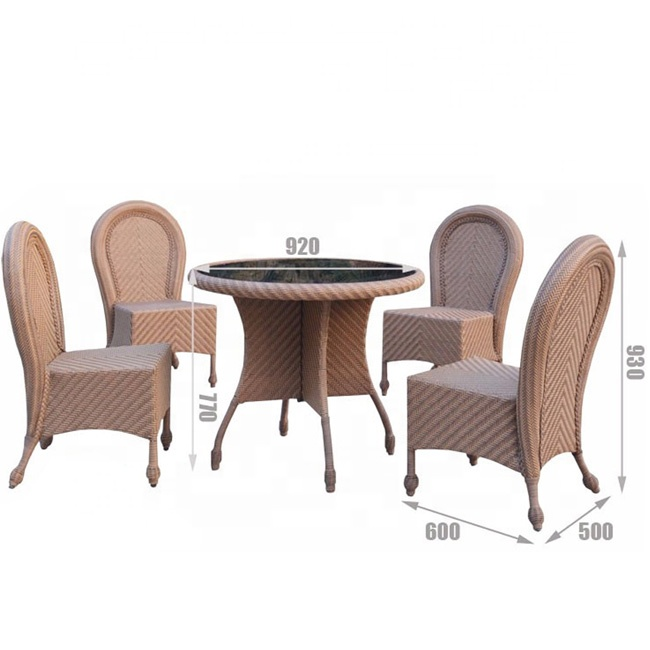 Groovy Good Price Patio Rattan Hotel Resort Wicker Material Foshan Outdoor Furniture 4 Chairs Round Dining Table Buy Round Dining Table Outdoor Unemploymentrelief Wooden Chair Designs For Living Room Unemploymentrelieforg