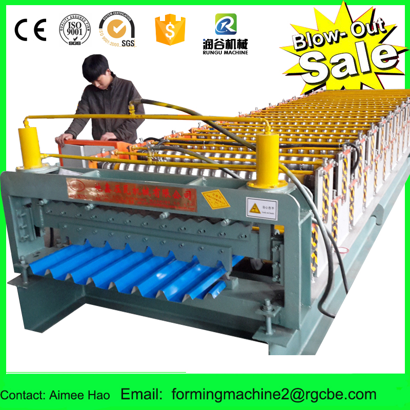 double layer corrugation and ibr roofing panel roll forming machine/roof tile forming type machine