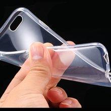 Průhledný silikonový kryt pro iPhone 4, 4S, 5, 5S, 5C, 6, 6S, 6PLUS, 6S PLUS