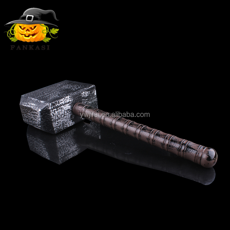 Hot sale party decoration plastic thor toy weapon hammer for sale