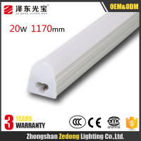 China supplier Hot sale 20W led tubes t5 4ft 1200mm led tube light with 3 years warranty