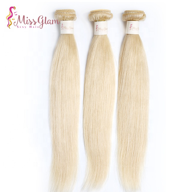 Factory real human hair bundles customized color 613 cheap Brazilian hair weave bundles,silky straight good choice hair weft