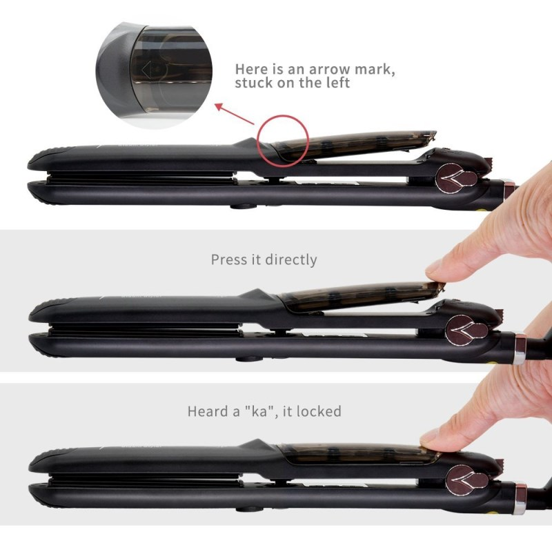 2017 Hot Sell Flat Iron Custom Professional Tourmaline Fast Ceramic Steam Hair Straightening