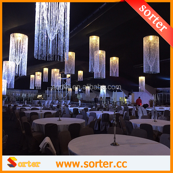2016 New crystal bead chandelier lights/ crystal garland chandelier parts