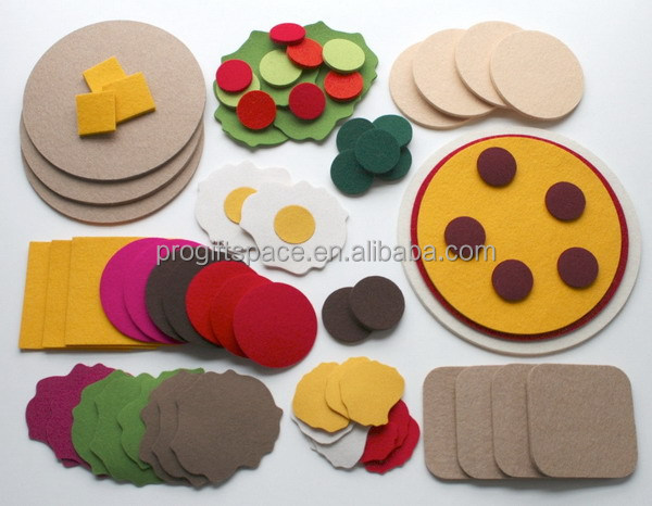 high quality premium new fashion custom non-woven felt diy kitchen cabinet craft kit for kids baby educational toy China OEM