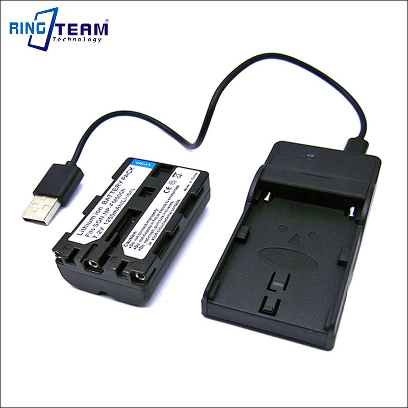 Cámara de batería cargador micro-USB para Sony Alpha slt-a58m//slt-a58y np-fm500h