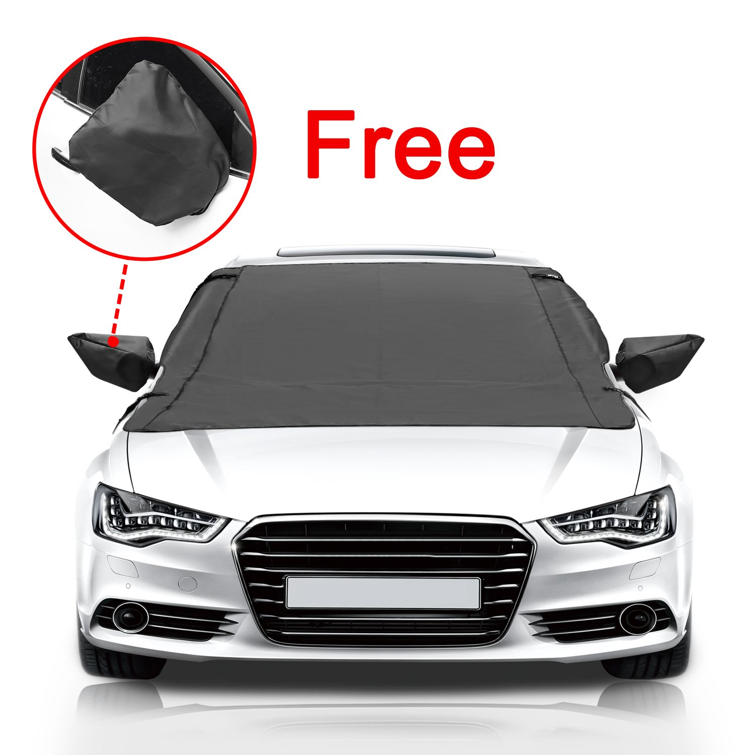 Silver Fit for Cars Dealpeak Windshield Cover Trucks and SUVs Car Windshield Snow Cover /& Sun Shade Protector with Magnet