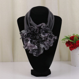 Hot Sell red polyester neck loop scarf