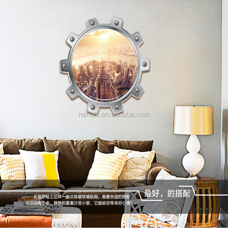 Modern 3d metropoli wall stickers for children bedroom pvc removable decals living room office decoration wallpaper home murals