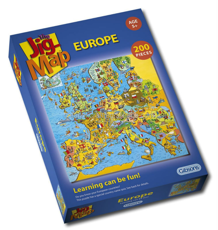 Educational geography jigsaw puzzle learning can be fun jig-map puzzle