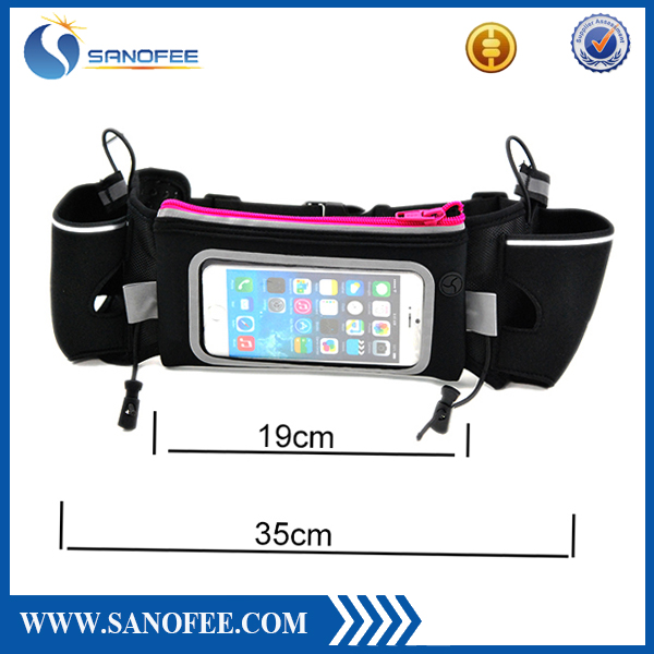 Running Hydration Belts Water Bottle Holder Reflective Running Belt Men Women Waist Belt