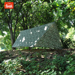 410*290cm Single Layer Camo Camping Hexagonal Polyester Rain Fly Tent Tarp Backpacking Shelter Outdoor Sunshade Option