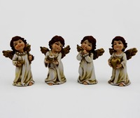 Polyresin Christmas Angel Figurines for Home Decorations Wholesale