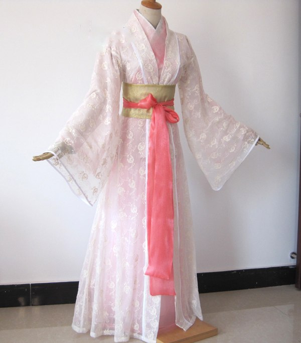 3425f002138b9 US $238.0 |Liu YiFei 2 Designs White Pink Fairy Costume for TV Play The  Condor and The Lovers Wang YuYan Drama Costume Hanfu -in Chinese Folk Dance  ...