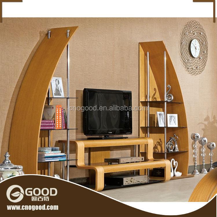 Unique Design Plywood Led Tv Stand Furniture Set