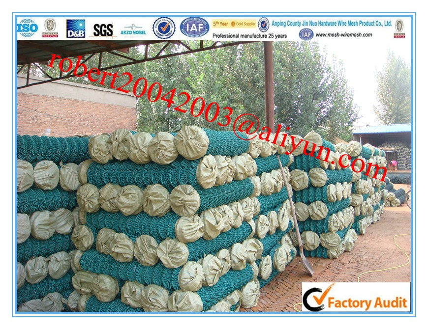 PVc coated Chain Link fence/plastic coated diamond wire netting