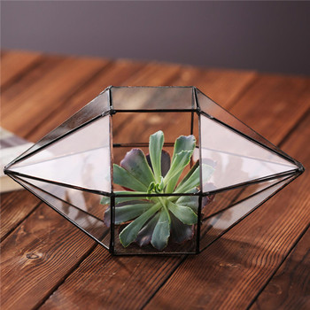 Large Wedding Card Holder Glass Box Mailbox Geometric Terrarium