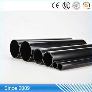 Large Diameters 12inch Black ABS Materials Plastic Tubes Pipe