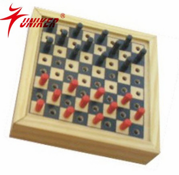 mini handmade exquisite high quality checkers/draughts game set for travel