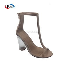 2018 cheap price new design italian stylish beautiful diamond transparent ladies summer party wear shoes high heel sandals