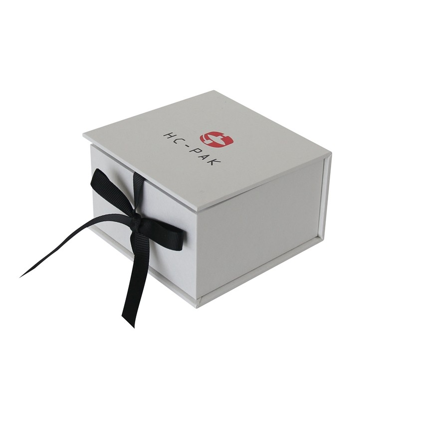 Luxury Jewelry Gift Boxes with ribbon custom logo printing
