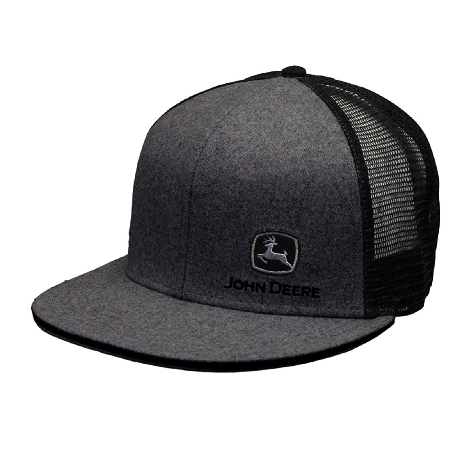 b7e36749 Get Quotations · John Deere Brand Charcoal High Profile w/Suiting Fabric  Snapback Hat - 13080463CH