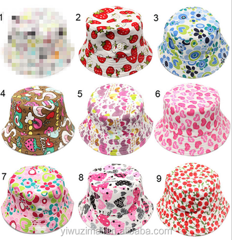 4b94e8ce Best Sales Children Floral Printed Summer Bucket Hats Unisex Kids Many  Patterns Stylish Sun Hat