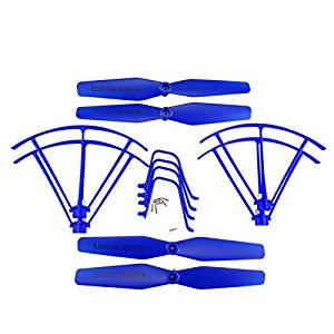 UUMART Syma X5UC X5UW RC Quadcopter Spare Parts Upgraded Propeller+Protector+Landing Skid -Blue