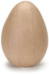 Bulk Buy: Corein.dinations Paper Mache Egg 4in. x 2.5in. (12-Pack)