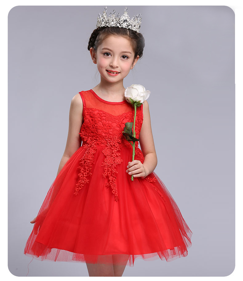 Children Formal Dress Clothing Design Tulle Dress Party Wear Fashion