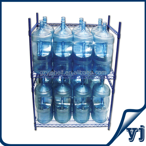 Customized Commercial Wire Mesh Chrome rack/5 Gallon Water Bottle Storage Rack From China Supplier
