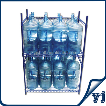 Customized Commercial Wire Mesh Chrome Rack/5 Gallon Water Bottle ...