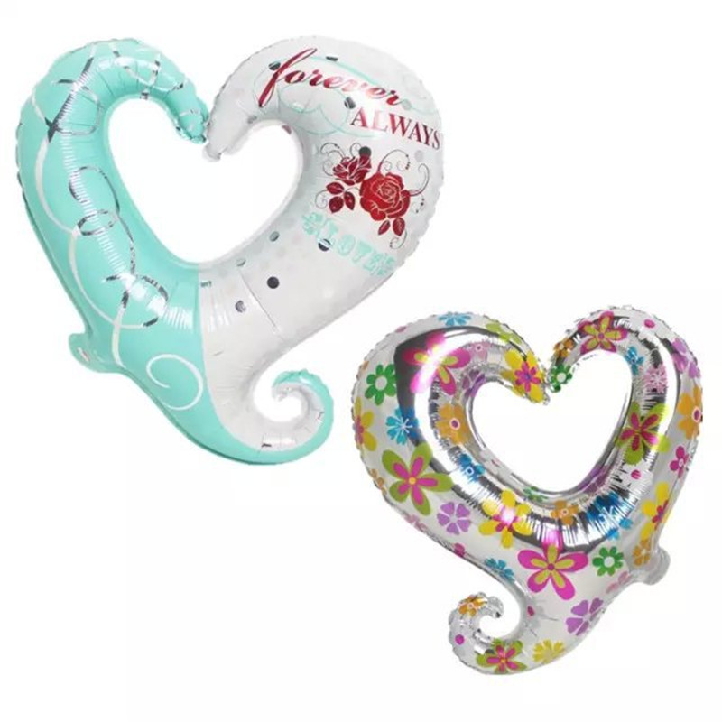 18 inch hook heart shape love heart foil balloons wedding party decorate