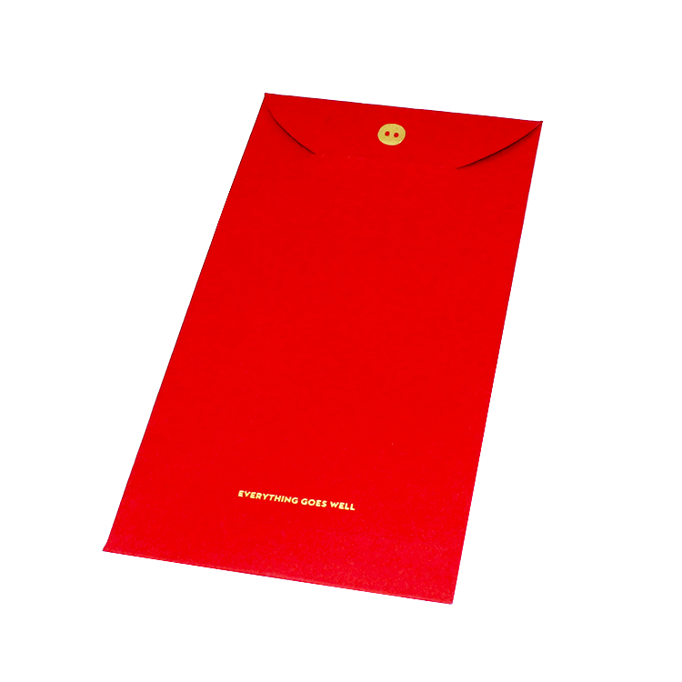 2020 Chinese new year lucky money gift envelopes red packet wedding envelope with custom printed logo
