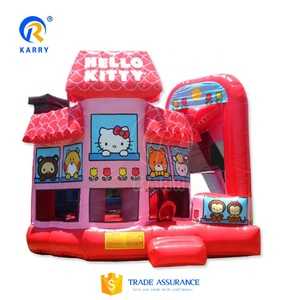 Step 2 small pink hello kitty inflatable indoor bouncer