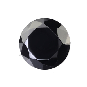 Wholesale round machine cut loose AAA black cubic zirconia gems