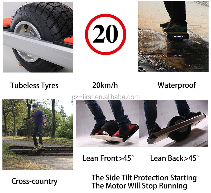 Shipping Free 2017 latest high-tech outdoor One wheel smart balance red electric scooter Drop shipping