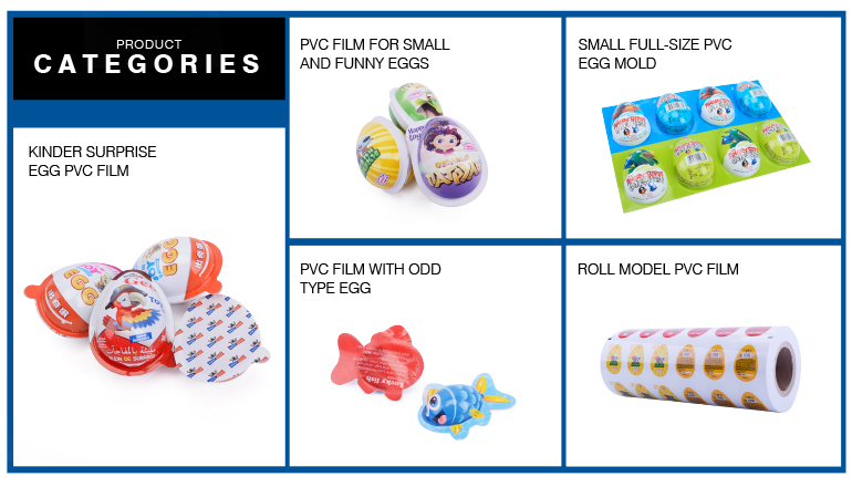 moistureproof printing pvc film aluminum foil chocolate kinder joy egg packaging material
