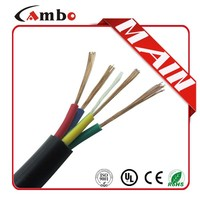 High quality 300 Voltage 15/4 AWG Wire Copper Core Conductor Electric Cable