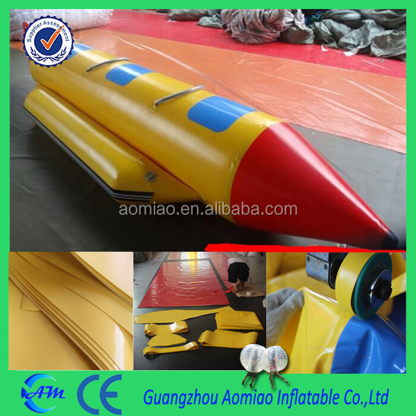 3 person seaters high quality inflatable banana boat, exciting water taxi boat for sale