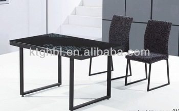 2014 Popular High Quality Glass Dining Table And Chairs