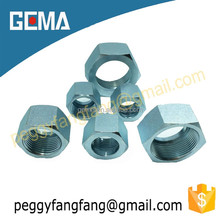 hydraulic nuts white zinc plated nuts/zinc alloy nuts M20*1.5,catbon steel nuts, bolts nuts washers ms hydraulic fittings