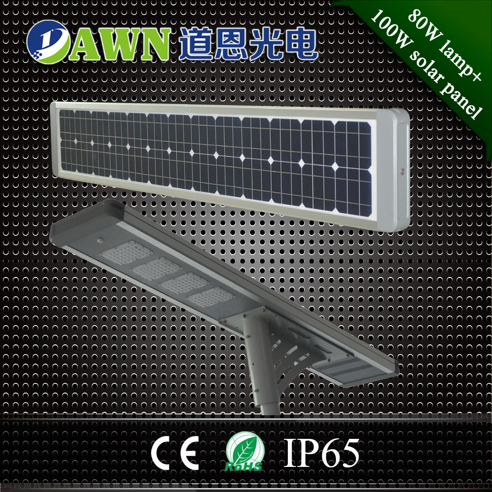 80W new design factory direct sales price integrated all in one solar led street light lamp lens led solar all in ones led