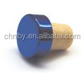 Large arts blue colored grafts cream wine synthetic cork